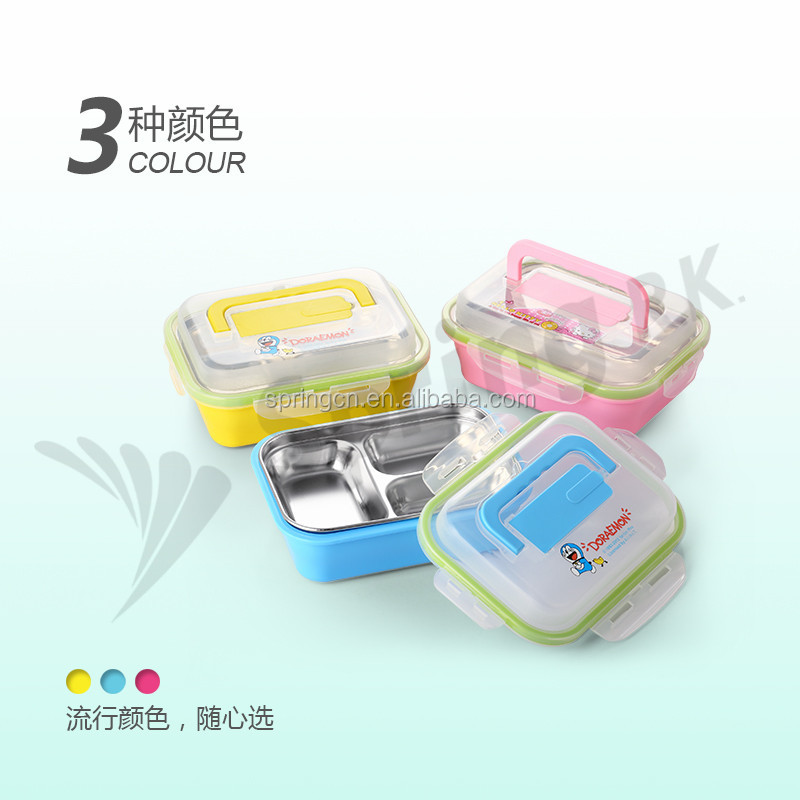 3compartments stainless steel big storage food box