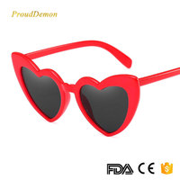 J66298 Factory Dropshipping Polygon Heart Mirror Glasses Cute Gift Sunglasses UV400