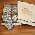 Wood Christmas Decorations Snowflake Ornaments