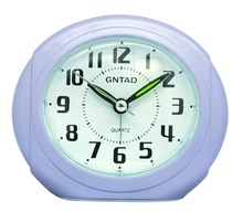 ABS table clock , SNOOZE BIBI ALARM CLCOK WITH LIGHT