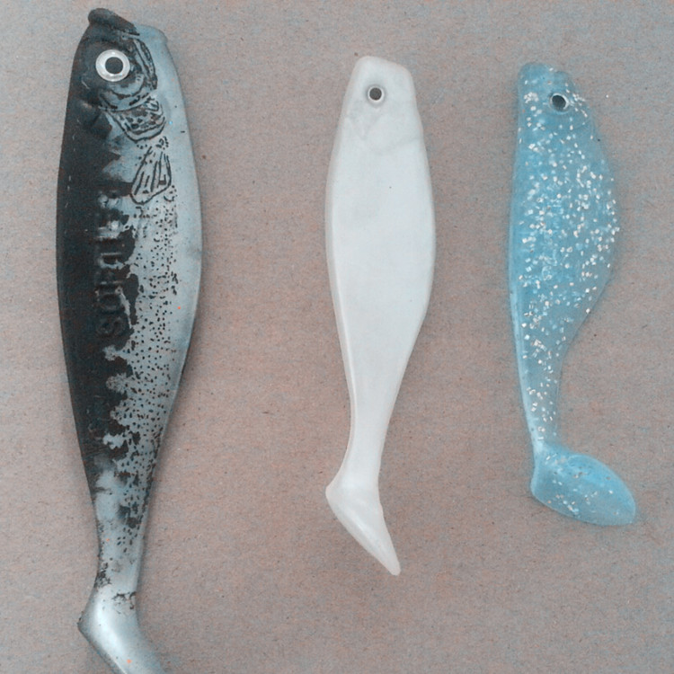 green soft plastic mermaid fishing lure