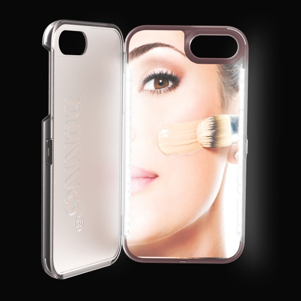 OEM Led Selfie Flash Light Up Cell Phone Case with vanity mirror for iphone 7 phone covers