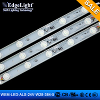 Edgelight aluminum profile led strip light , white/warm white/CE/ROHS/UL waterproof low voltage outdoor led strip light