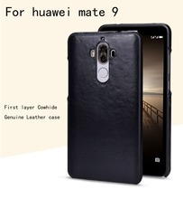Luxury first layer Cowhide case for huawei mate9 Genuine Leather Back cover for huawei mate 9