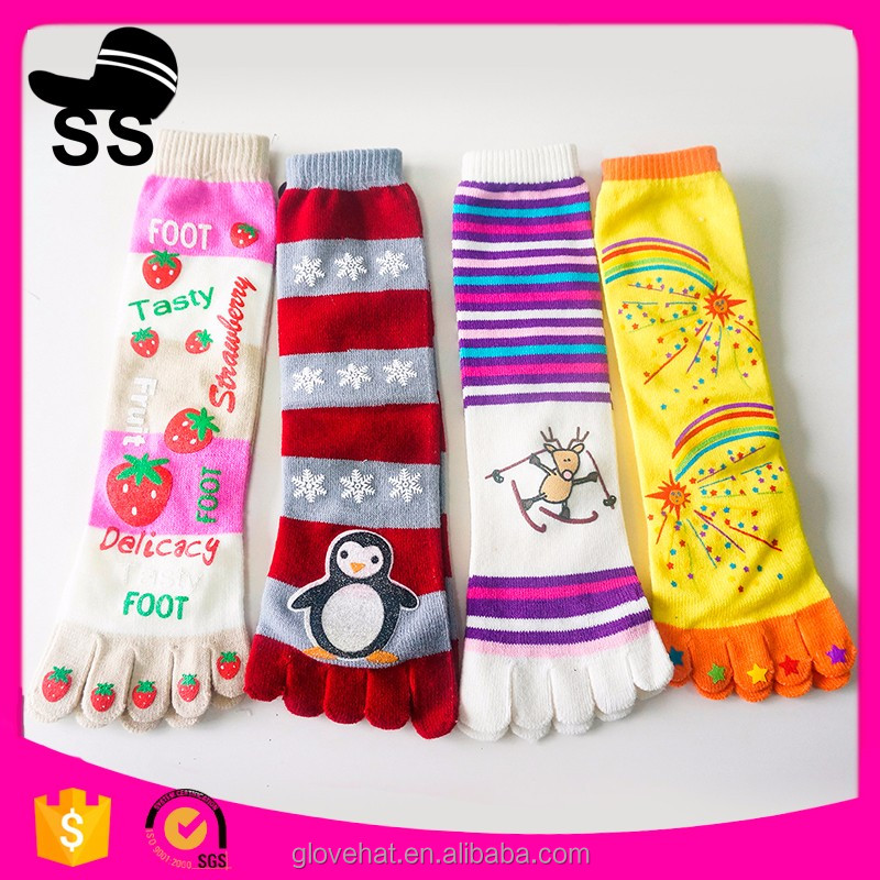 2016 new style GE-1014 cute cartoon 5 toe socks women in girdles and stockings
