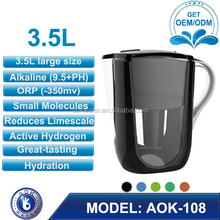 10 Cup alkaline water filter pitcher with 1 Filter, BPA Free, Ionizer, Jug, Filter System
