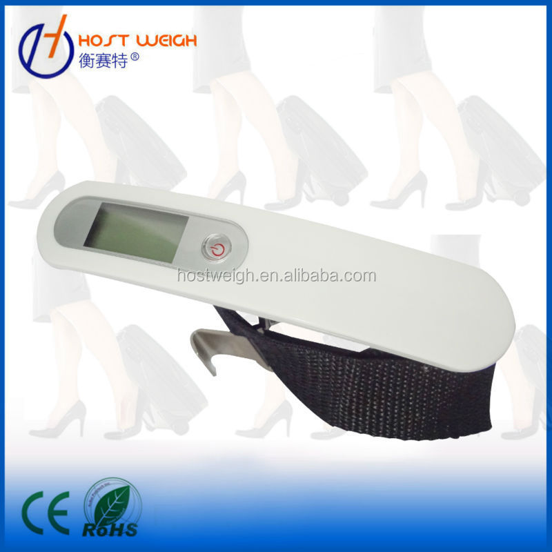 Electronic Luggage Scale with Stainless Steel Housing, Low Battery and Overload Indicator