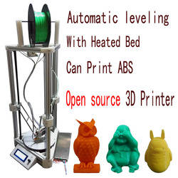 Upgraded made in China delta 3d printer with automatic leveling and extra10m filaments for free