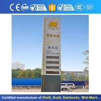 Advertising Totem P10 Full Color Outdoor Led Display For Gas Station