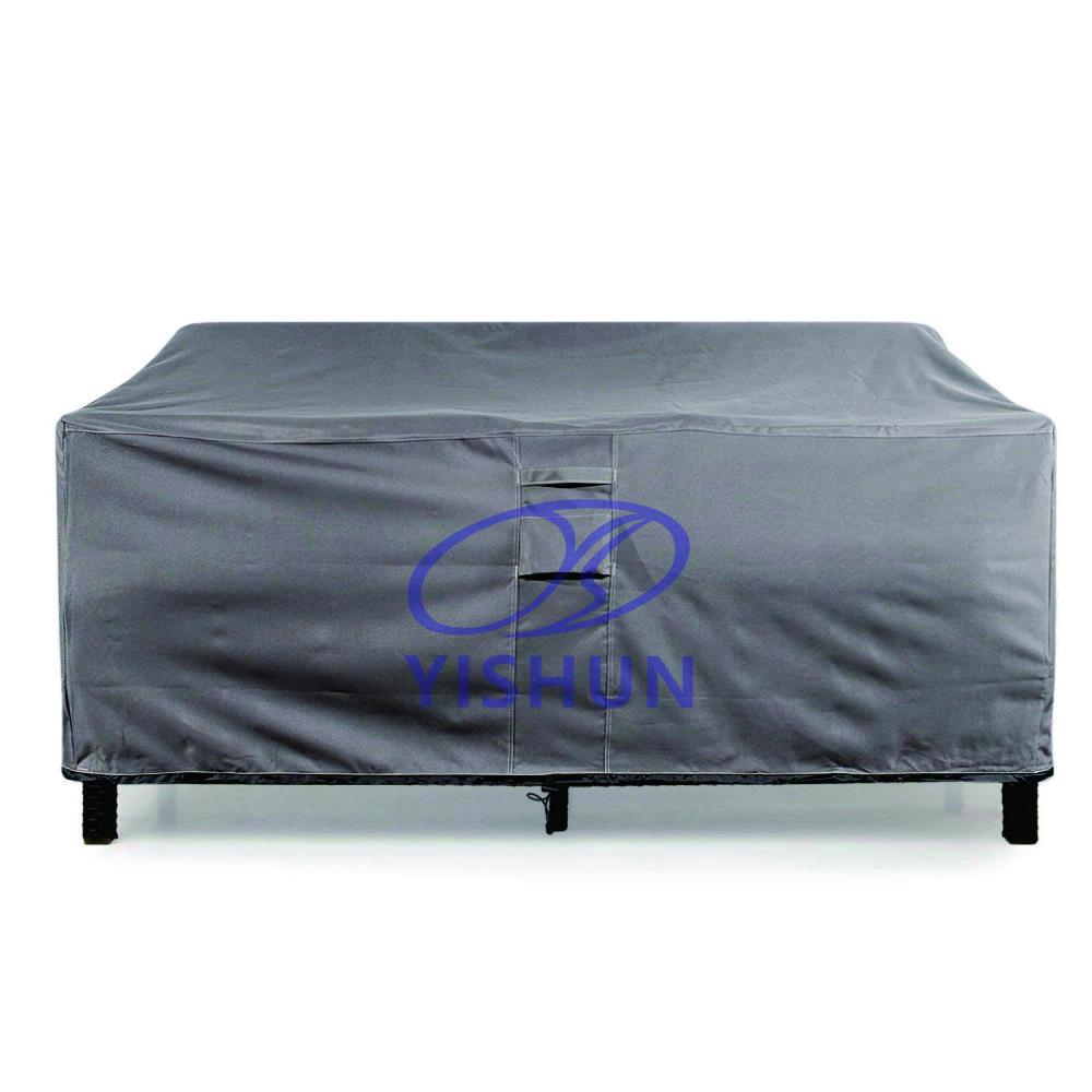500x300D high density durable waterproof polyester furniture patio outdoor table cover