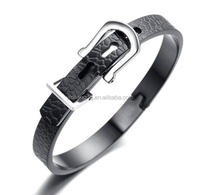 Mens Stainless Steel Bracelet, Bangle, Black, Snake Skin Fashion Bracelet