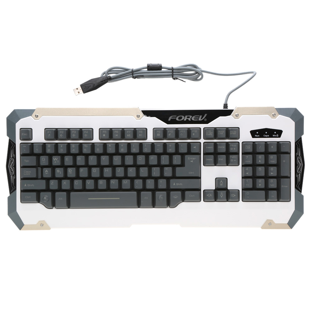 Professional LED Backlit Gaming Keyboard 19 Key Anti Ghosting Imitation Mechanical Keyboard USB Wired for Laptop Desktop