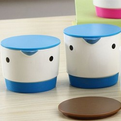 Bird shape ceramic coffee cup with silicon lid and silicon bottom