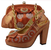 wholesale high quality fashion lady shoes and and matching bags