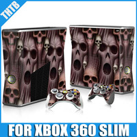 Good price in wholesale Skin sticker for xbox 360 slim console controller covers case