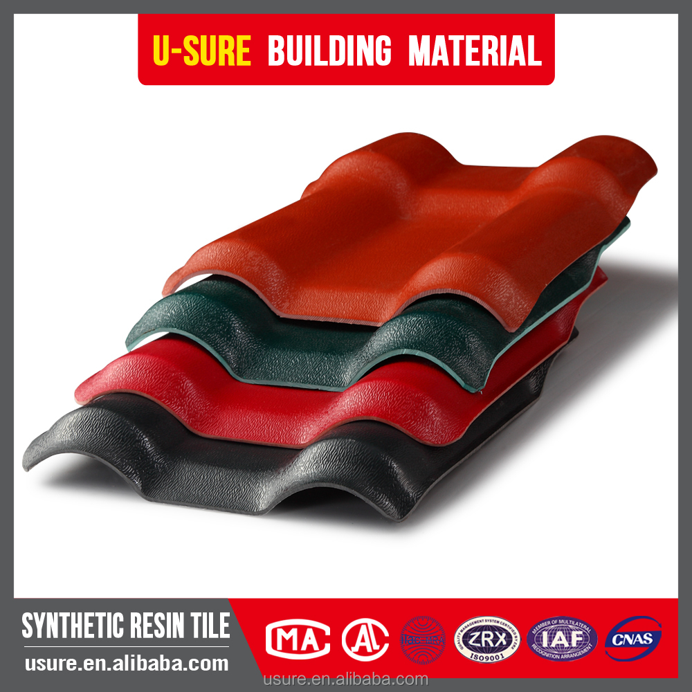 Cheap heat insulation material High quality anti-corrosion light weight spanish upvc roof tile