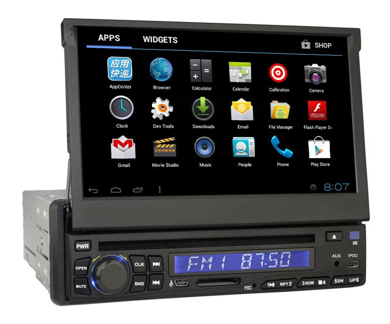 "Manufacture Car DVD Factory 1 din Android 4.0 touch screen 7"" Universal Car Radio GPS With Bluetooth Android 4.0.4"