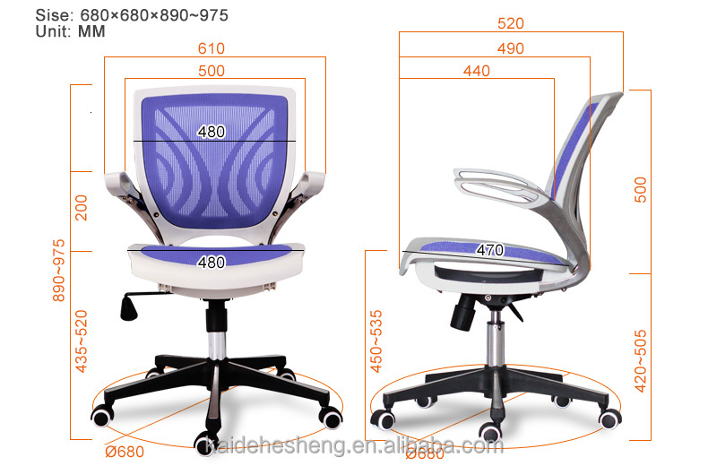 best selling unique pu and computer grey mesh office chair