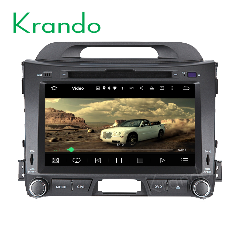 "Krando Android 7.1 8"" android car stereo navigation system for kia sportage 2010-2014 car dvd player radio gps 2GB RAM KD-KS811"