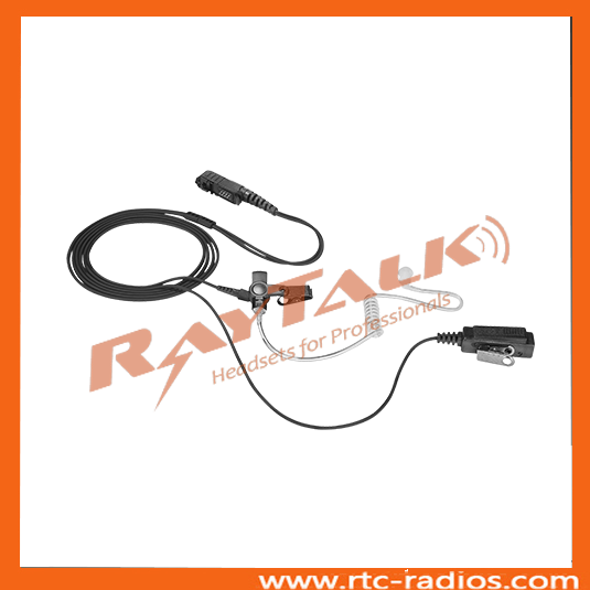 Two way radio acoustic tube earpiece for Sepura STP9000 STP8000 radios