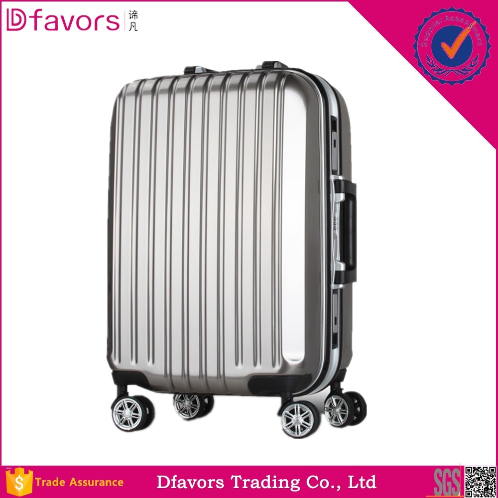 Hot selling pc shell luggage high quality corner protector fashion abs wheeled luggage for wholesales