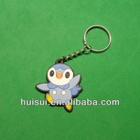 3D custom promotion gift reflective pvc key chain