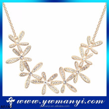 Popular style selling well fashion jewelry promise charming crystal flower indian necklace New accessories woman 2016 N0180