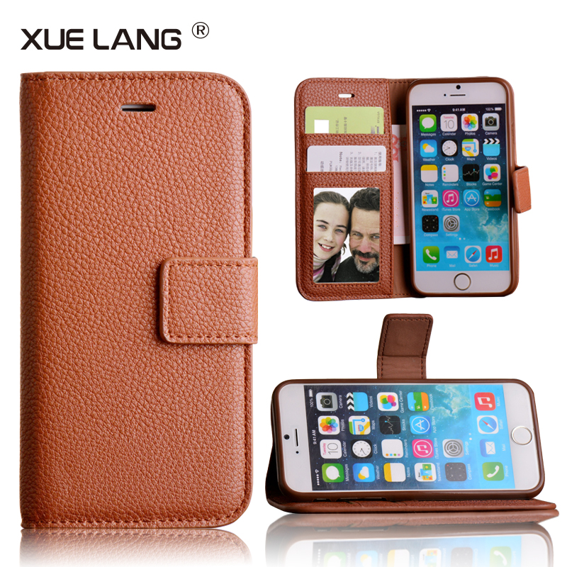 Top Quality Luxury leather mobile phone cover for iphone 6 case mobile phone accessories factory in china