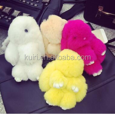 AN-B-10 Super Cute Plush Toy Rabbit Keychain Play Dead Rabbit Keychain Stuffed Soft Toy