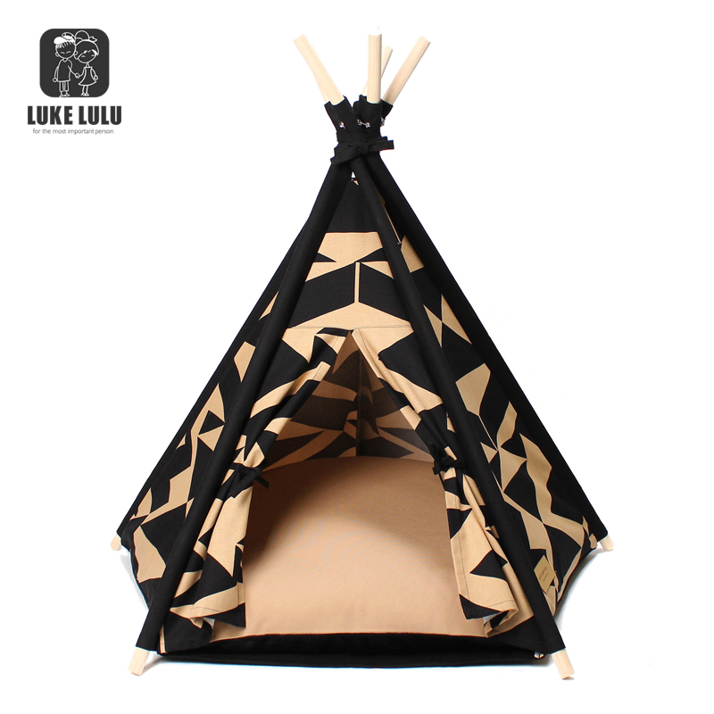 Best Selling Teepee Tent Cat Dog Bed Puppy Kitten Playing House Pad with cushion Pet Camp