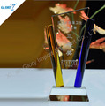wholesale Colorful glass crystal trophy Award