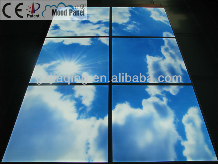 european latest new decoration artificial skylight panel ceiling