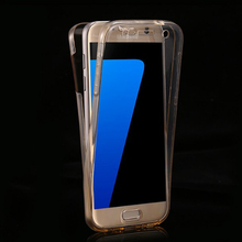 Shockproof 360 Degree Full Body Crystal Clear TPU Phone Case For Samsung Galaxy s7 edge Plastic Case