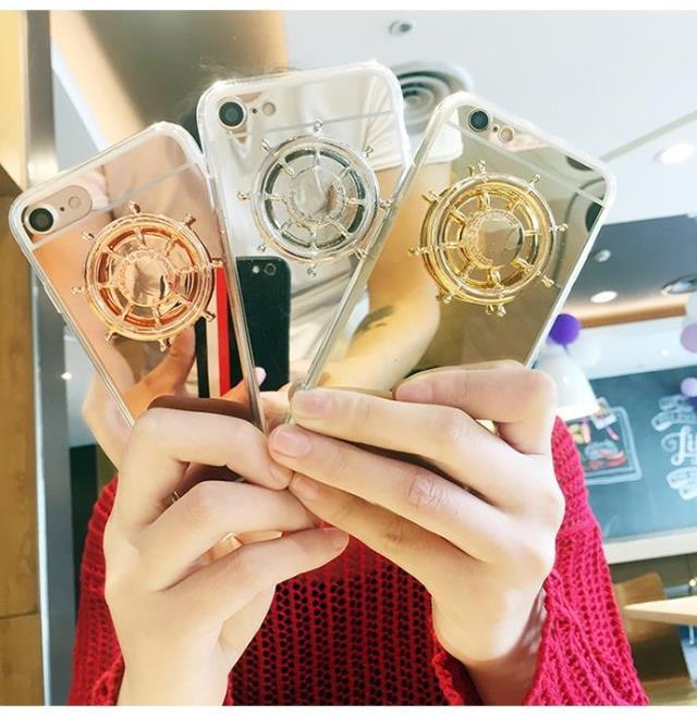 Crazy hand Fidget Spinner Luuxry metal Mirror cell phone case For Iphone 7 7Plus Cover Case,Phone Case with fidget spinner