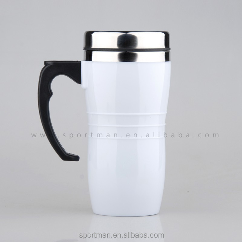 Plastic Coffee Mugs Hot Sale Cheap Custom Logo Mugs no minimum