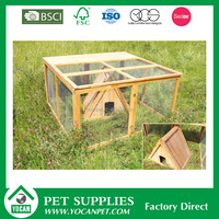 new pet products wooden rabbit coop cage wire mesh