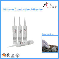 Practical silicone thermally conductive adhesive