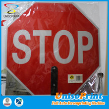 New design UV ink reinforce road solar powered triangle frame traffic sign with low price
