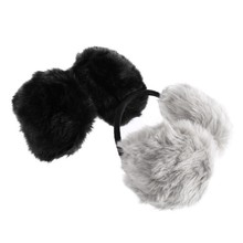 Unisex Winter Earwarmers Faux Fur Sound Proof Earmuff Headphone Muffs Winter Ear Cover Earcap