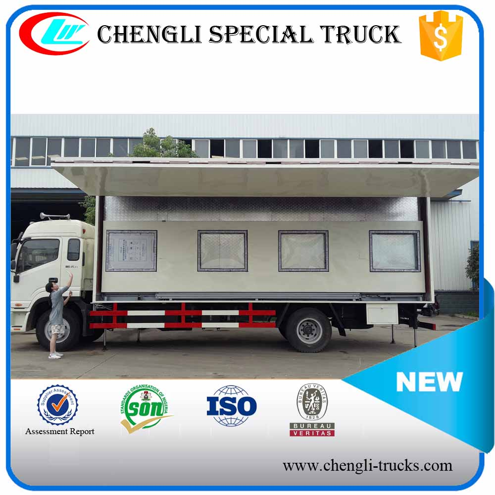 JAC 4x2 LHD RHD Mobile Customized Multifunction Hydraulic Rising Stage Workshop Performance Truck