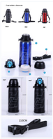 Stainless Steel 35251516023 Sports Thermal flask 0.8 liters Cap system 1 and 2