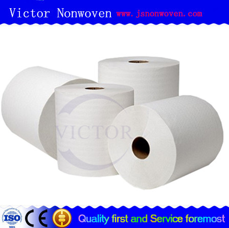 viscose and polyester Cross lapping plain spunlace nonwoven
