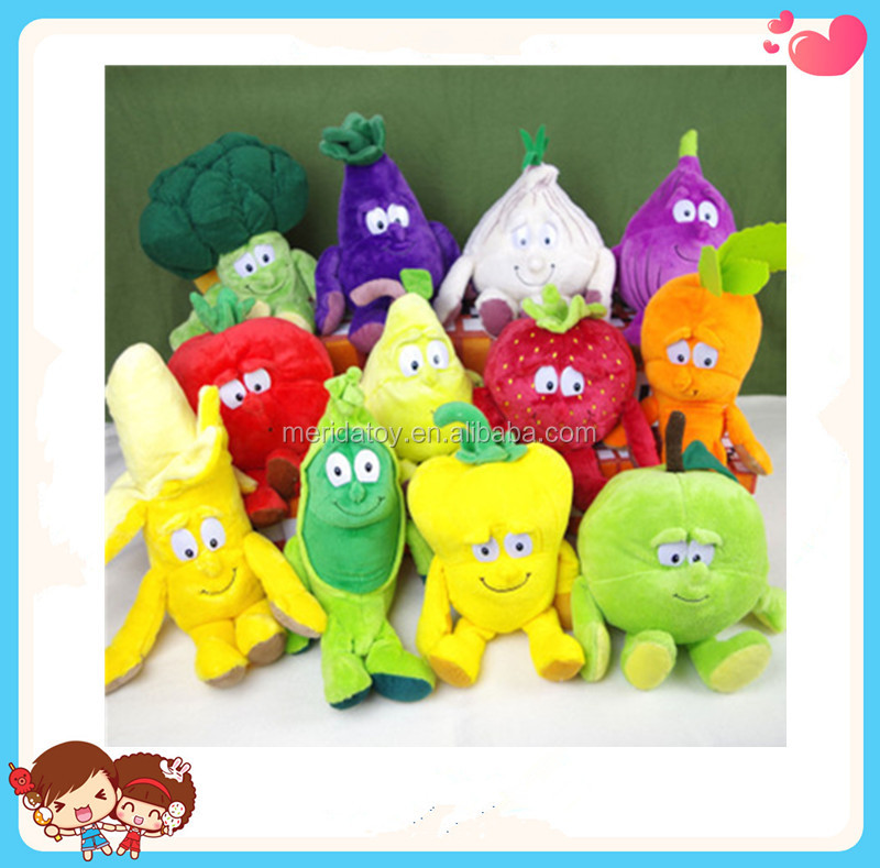 Custom New Design Multi Choice Funny Fruit Vegetable Shaped Stuffed Plush Toy Doll