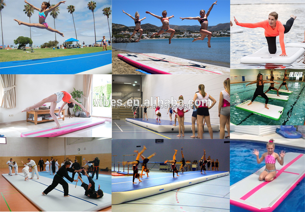 Inflatable Gymnastics Air Track Tumbling Mat for Home Training with Free Pump