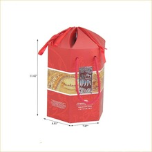 chinese food packaging handle carton paper box for snack