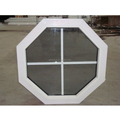 Newest polygon shape PVC grills design fixed window
