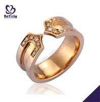 Excellent horseshoe design cz 24k gold plated jewellery