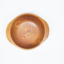 OEM factory custom oblong wooden bowl with handle