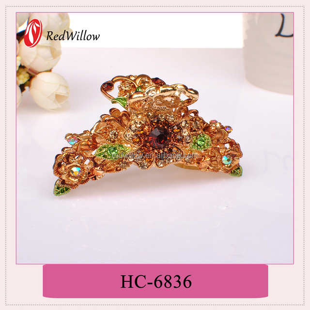 Hot sell Different Colors Available crystal hair claw clip