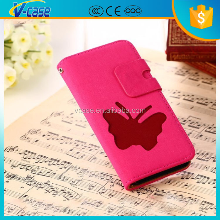 Unique material flip animal shape leather wallet cover phone case for iPhone 5